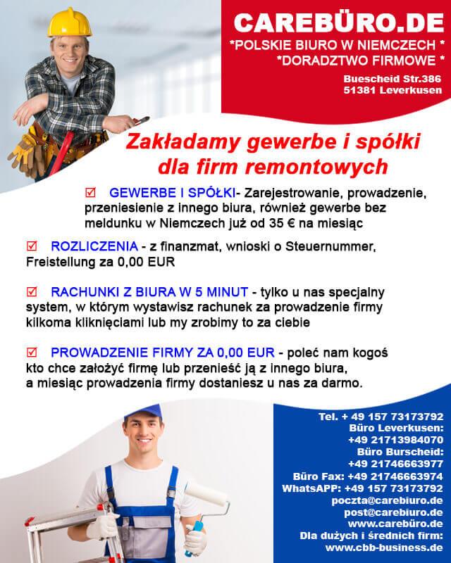 rejestracja polskiej firmy w niemczech