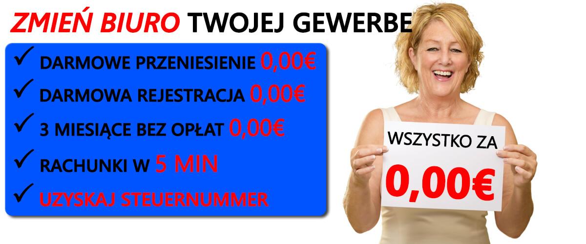 rejestracja gewerbe w Niemczech